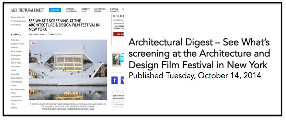 Architectural Digest 14 Oct