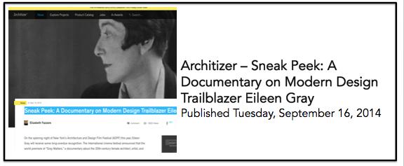 Architizer 16 Sept